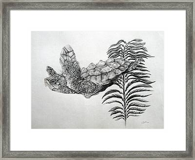 Framed Print featuring the drawing Norman by Mayhem Mediums