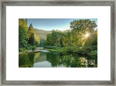 North Fork Sun Framed Print by Idaho Scenic Images Linda Lantzy