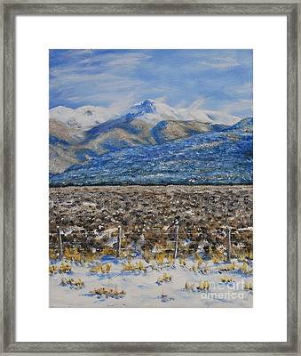 North Of Taos Framed Print by Stanton Allaben