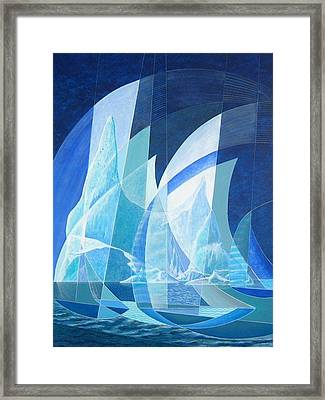 North Run Framed Print by Douglas Pike