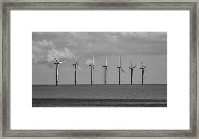 North Sea Wind Farm Framed Print by Martin Newman