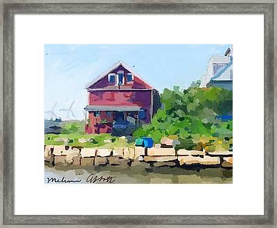 North Shore Art Association At Reed's Wharf Framed Print