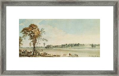 North West View Of Wakefield Lodge In Whittlebury Forest, Northamptonshire Framed Print by Paul Sandby
