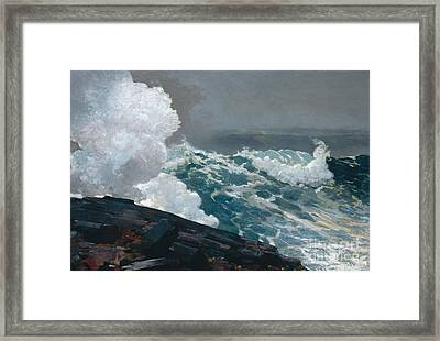 Northeaster, 1895 Framed Print by Winslow Homer