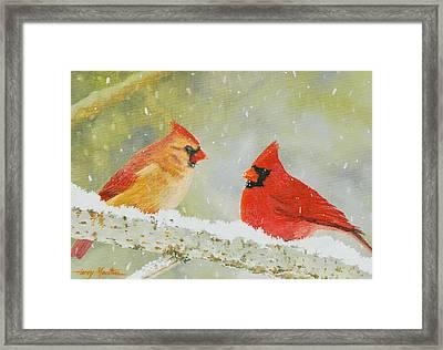 Northern Cardinals Framed Print