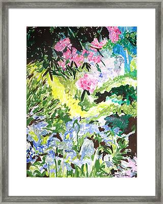 Framed Print featuring the painting Northern Glen by Esther Newman-Cohen