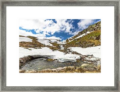 Norway Mountain Landscape Framed Print