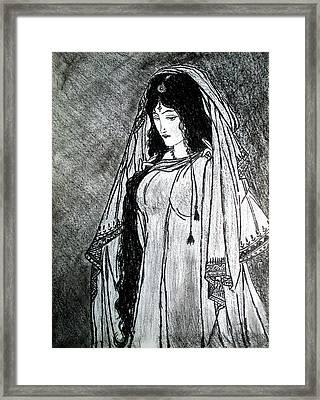 Nostalgia - Woman Of Chughtai  Framed Print