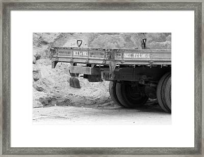 Not For Hire Framed Print by Jez C Self