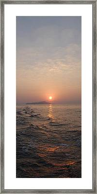 Not Quite Leaving Framed Print
