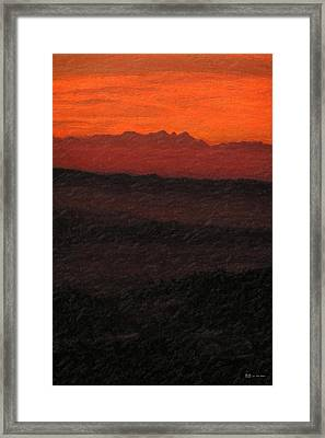Not Quite Rothko - Blood Red Skies Framed Print