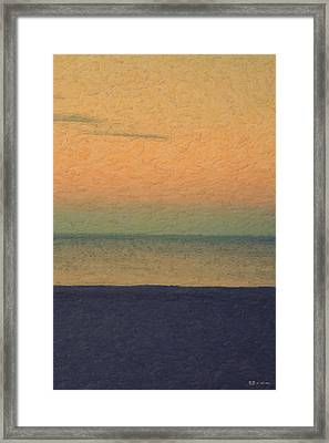 Not Quite Rothko - Breezy Twilight Framed Print by Serge Averbukh