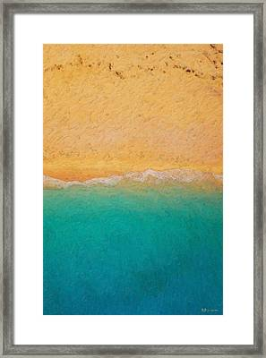 Not Quite Rothko - Surf And Sand Framed Print by Serge Averbukh