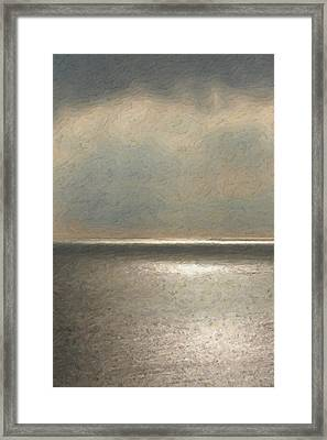 Not Quite Rothko - Twilight Silver Framed Print