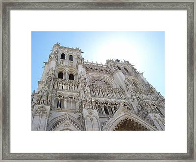 Notre-dame D'amiens Framed Print by Mary Mikawoz