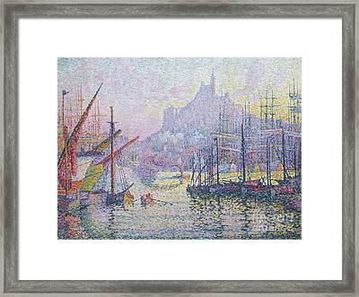 Notre Dame De La Garde, La Bonne Mere, Marseilles Framed Print by Paul Signac