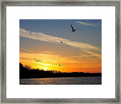 November Sunset Framed Print by Frozen in Time Fine Art Photography