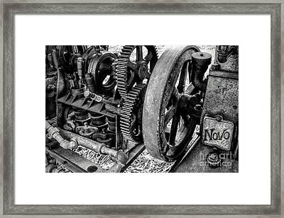 Novo Antique Gas Engine Framed Print