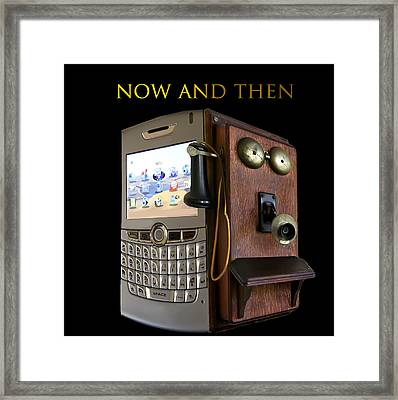 Now And Then Framed Print by Cecil Fuselier