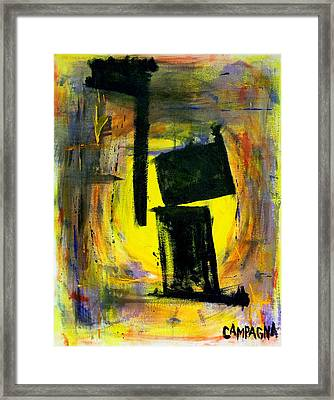Nowhere To Hide Framed Print by Teddy Campagna