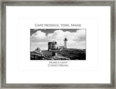 Nubble Light Framed Print by Christy Bruna
