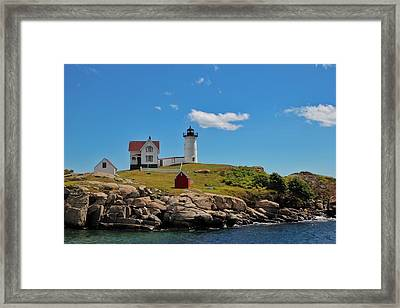 Nubble Lighthouse Framed Print by Luisa Azzolini