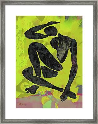 Nude Pop Art Poster Framed Print