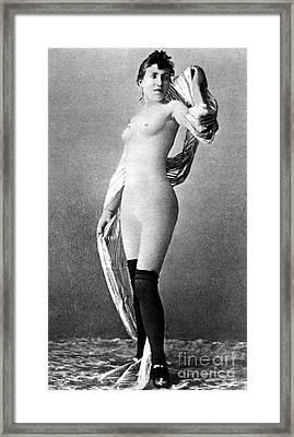 Nude Posing, C1888 Framed Print by Granger