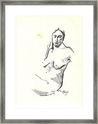 Nude Three Framed Print by R  Allen Swezey