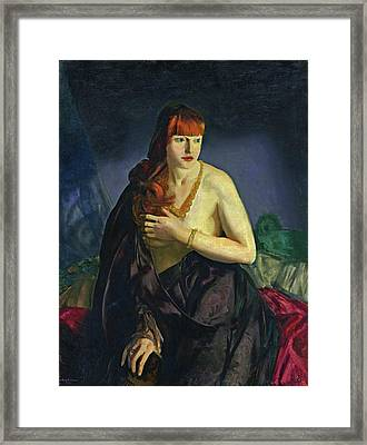 Nude With Red Hair Framed Print by George Bellows