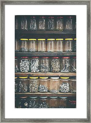Nuts And Bolts And Bolts And Nuts Framed Print