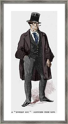 Ny Gangs: Bowery Boy, 1857 Framed Print by Granger