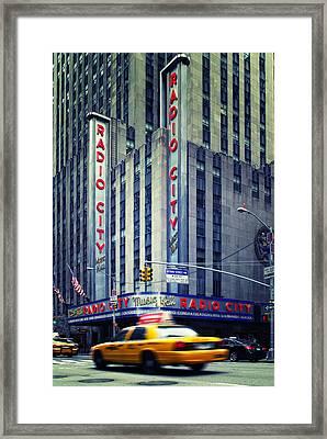 Nyc Radio City Music Hall Framed Print by Nina Papiorek