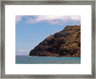 Framed Print featuring the photograph Oahu - Cliffs Of Hope by Anthony Baatz