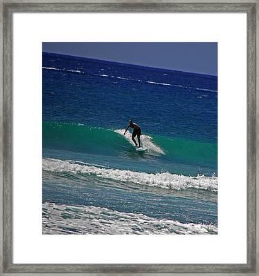 Oahu Surfer Framed Print