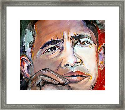 Obama II Framed Print by Valerie Wolf