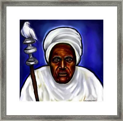 Obatala- Father Of Orishas Framed Print by Carmen Cordova