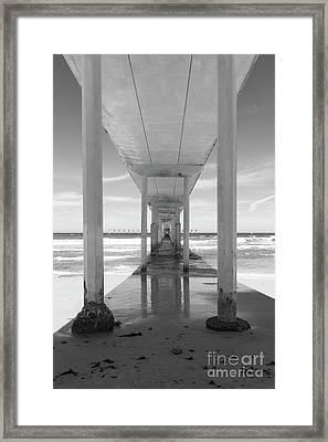 Framed Print featuring the photograph Ocean Beach Pier by Ana V Ramirez
