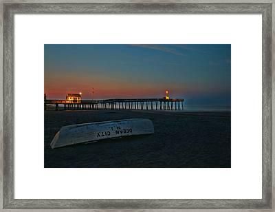 Ocean City  N J Sunrise Framed Print