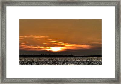 Ocean City New Jersey Sunset Framed Print by Kevin  Sherf