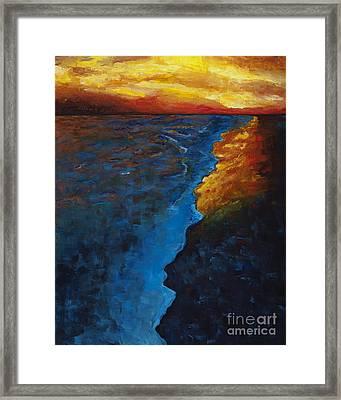 Ocean Sunset Framed Print by Frances Marino