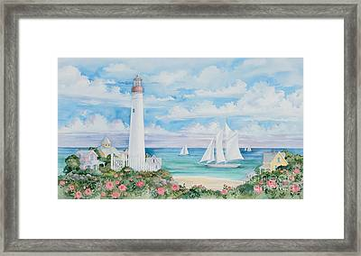 Ocean View Lighthouse Framed Print by Paul Brent