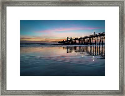 Oceanside Pier Sunset Framed Print