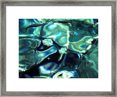 Framed Print featuring the photograph Ocean Water by Colette V Hera  Guggenheim