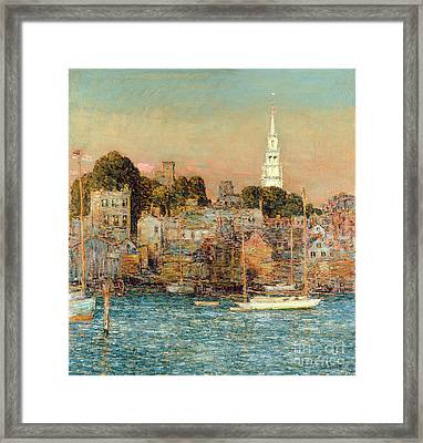 October Sundown Framed Print by Childe Hassam