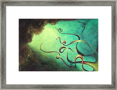 Framed Print featuring the painting Octopia by Dina Dargo