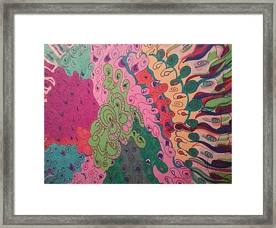 Octopus Framed Print by Modern Metro Patterns and Textiles