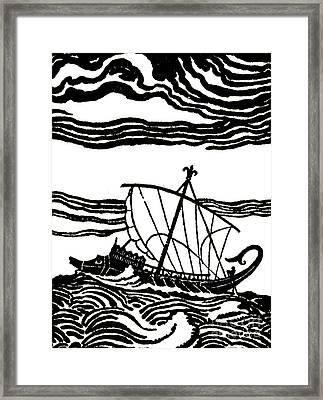 Odysseus's Ship Framed Print