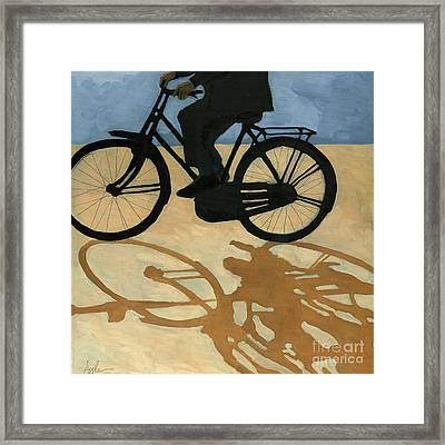 Off To Work - Painting Framed Print by Linda Apple