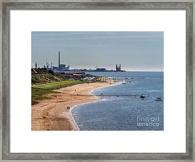 Offshore Harbor In Esbjerg Seen Form Hjerting Framed Print